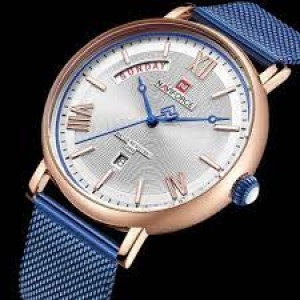 Naviforce NF-3006 Chain Strap Rose Gold & White Color Watch