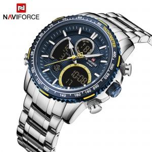 Naviforce NF9182 Chain Strap Blu & Black Color Watch