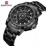 Naviforce NF-9180 Chain Strap  Black Color  Watch