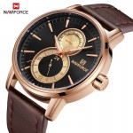 NAVIFORCE NF3005M Chronograph Watch Leather Strap