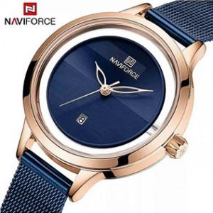 Naviforce NF-5014L Ladies Chain Strap Blue Color Watch