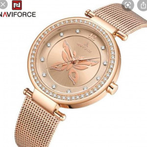 Naviforce NF-5018L Ladies Chain Strap Gold Color Watch