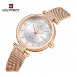 Naviforce NF-5019L Ladies Chain Strap Gold Color Watch