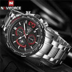 Naviforce NF-8017M Chronograph Chain Strap Watch