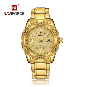 Naviforce NF-9117M Chain Strap Golden Color Watch