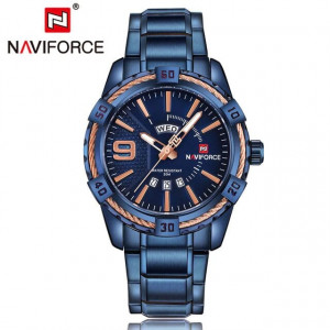 NAVIFORCE NF9117M Watch Leather Strap With Day & Date
