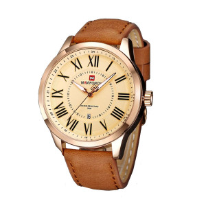 NAVIFORCE NF9126M Watch Leather Strap With Date