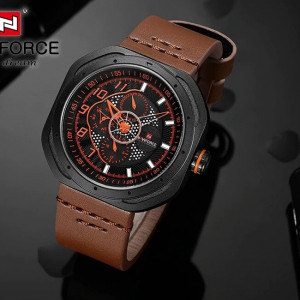 NAVIFORCE NF9141M Watch Chronograph Leather Strap
