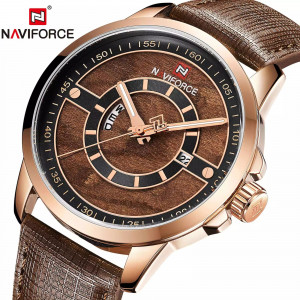 NAVIFORCE NF9151M Watch Leather Strap With Day & Date
