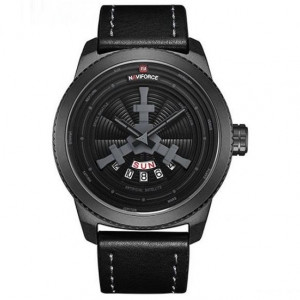 NAVIFORCE NF9156M Watch Leather Strap With Day & Date