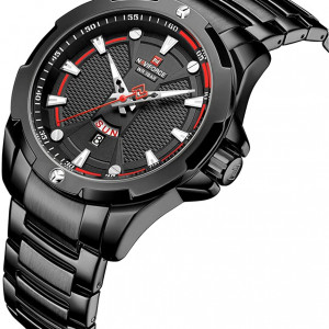 Naviforce NF-9161M Chain Strap Black Color Watch