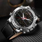 Naviforce NF-9164M Leather Strap Analog & Digital Watch