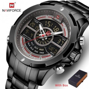 Naviforce NF-9170M Chain Strap Black Color Watch