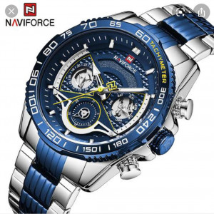 Naviforce NF-9185M Chronograph Chain Strap Blue Color Watch