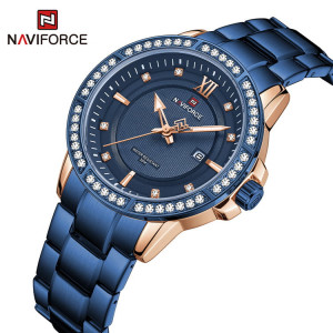 Naviforce NF-9187M Chain Strap Blue Color Watch