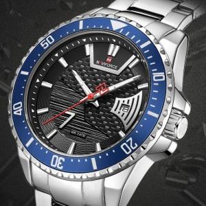 Naviforce NF9191 Chain Strap Blu & Black Color  Watch