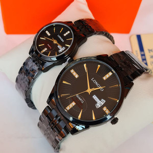 Longbo Original Couple Watches With Day & Date