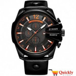 Curren M8176 Leisure Style Fashion Watch With Black Band
