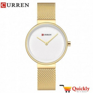 Curren C9016L Ladies Watch Chaffer Chain Online With Amazing  Gold Chain