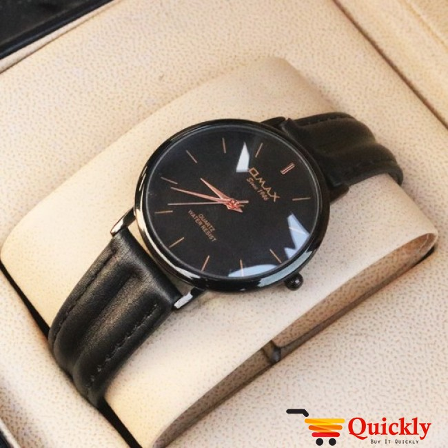 Omax SC 7491 Is Men Leather Analog Watch With Black Band