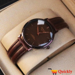 Omax SC 7491 Is Men Leather Analog Watch With Brown Leather Band
