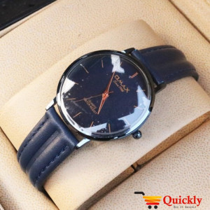 Omax SC 7491 Is Men Leather Analog Watch With Blue Amazing Band