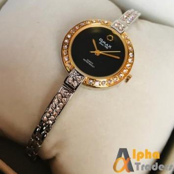 Omax Jes 928 Silver Color Ladies Watch Online