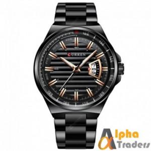 Curren 8375 Men Black Chain Watch Online