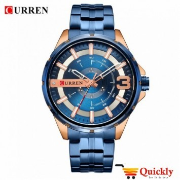 Curren M8333 Watch Chain Strap Blue Chain