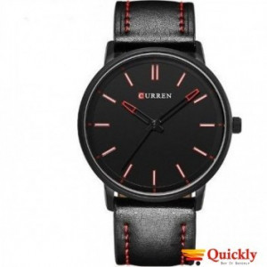 Curren M8233 Watch Leather Strap Black Color