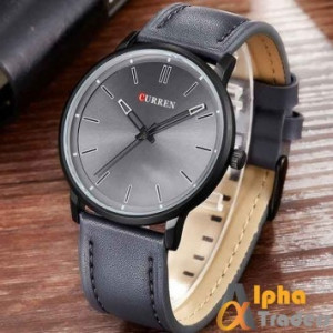 Curren M8233 Watch Leather Strap Grey Color