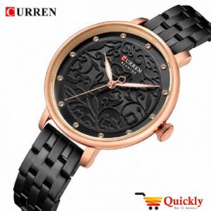 Curren C9046L Black Ladies Watch Chain Strap