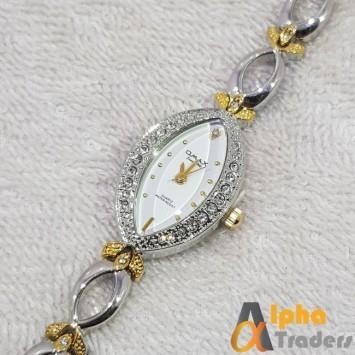 Omax JEO368 Silver Color Bracelet Ladies Watch Stainless Steel