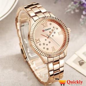 Curren C9009L Rose Gold Ladies Watch Chain Strap Wrist Watch