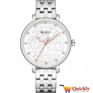 Curren C9046L Ladies Silver Watch Chain Strap Wrist Watch
