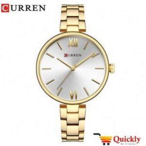 Curren C9017L Ladies Gold Strap Watch