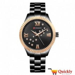 Curren C9009L Black Ladies Watch Chain Strap Wrist Watch