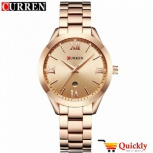 Curren 9007L Ladies Watch Rose Gold Chain With Date