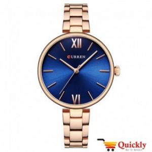 Curren C9017L Ladies Rose Gold Strap Wrist Watch