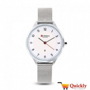 Curren C9035L Ladies Watch Leather Strap With Date Wrist Watch
