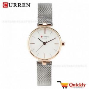 Curren C9028L Ladies Chaffer Chain Silver Watch
