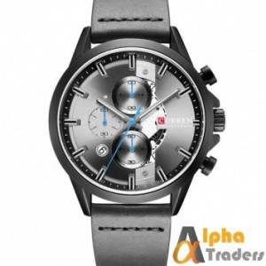 CURREN 8325 Chronograph Sports Watch Men Leather Strap