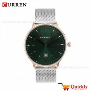 Curren M8302 Watch Silver Chain With Date