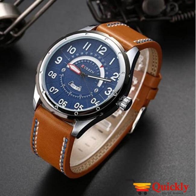 Curren M8267 Men's Watch Leather Strap