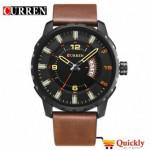 Curren M8245 Men's Watch  Brown Leather Strap