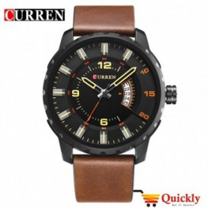 Curren M8245 Men's Watch  Brown Leather Strap