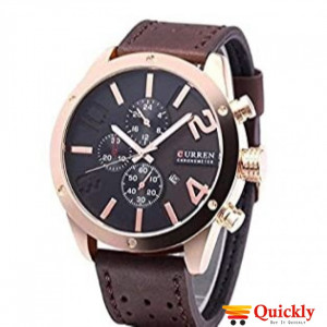 Curren M8243 Men's Watch  Broun Leather Strap