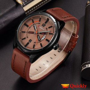 Curren M8211 Men's Watch  Brown  Leather Strap