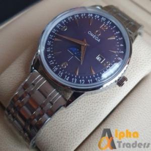Omega 1032 Men Silver Chain Watch