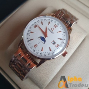 Omega 1032 Rose Gold Chain Watch